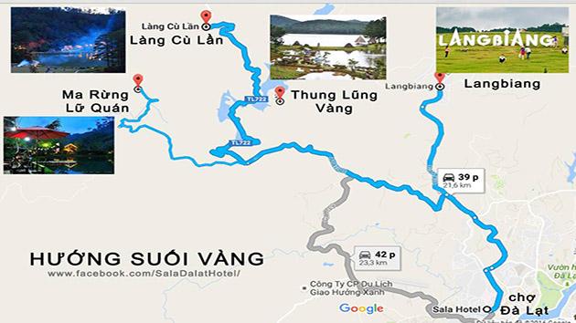 bản đồ khu du lịch thung lũng vàng