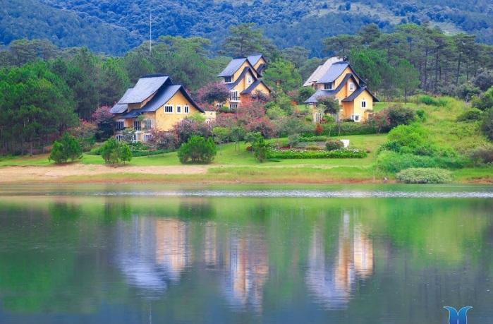 resort gần hồ tuyền lâm